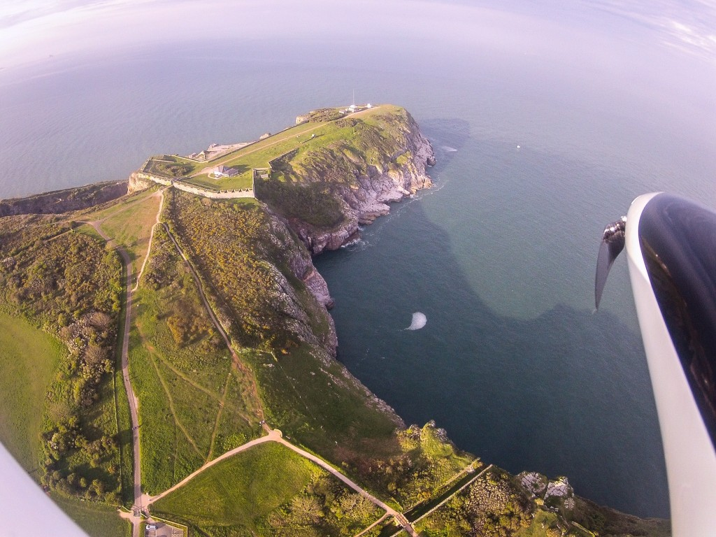 Berry Head from a model glider