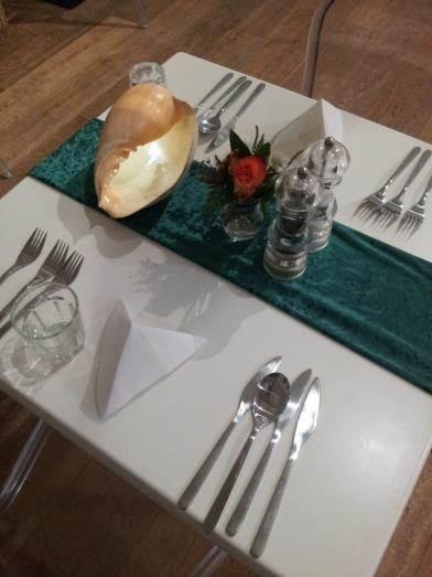 Table set for Gourmet Dinner