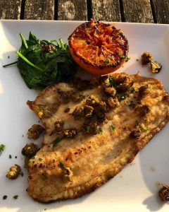 Brixham plaice at the Guardhouse cafe