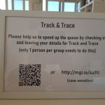 Track and trace at the Guardhouse Cafe