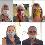 Cool face masks at the Guardhouse Cafe