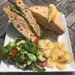 Crab sandwich at the Guardhouse Cafe